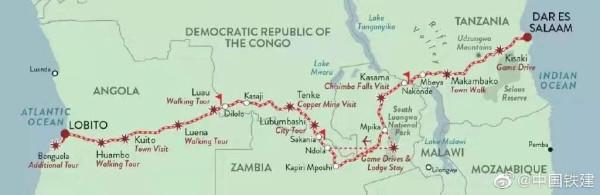 Китай запустил прямое железнодорожное сообщение через африканский континент между двумя океанами