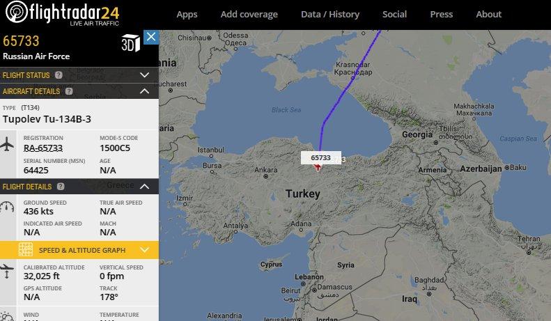 Самолеты ВКС России начали летать через воздушное пространство Турции