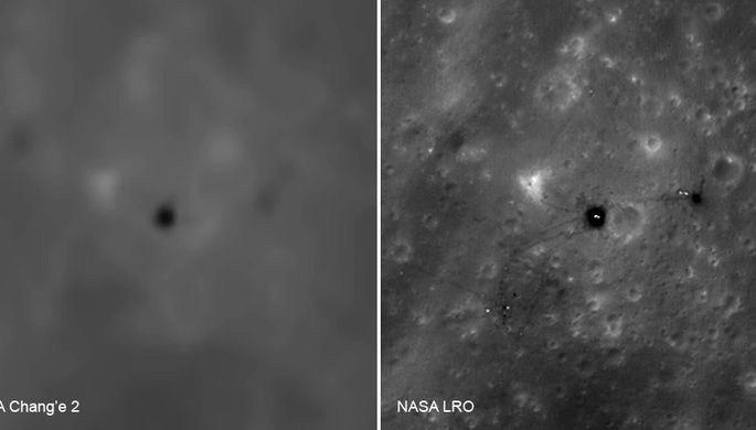Опубликованы китайские снимки мест посадок «Аполлонов» на Луне