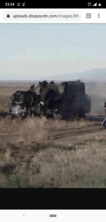 Уничтоженный азербайджанскими БЛА ОТРК 9К72 Эльбрус ВС Армении