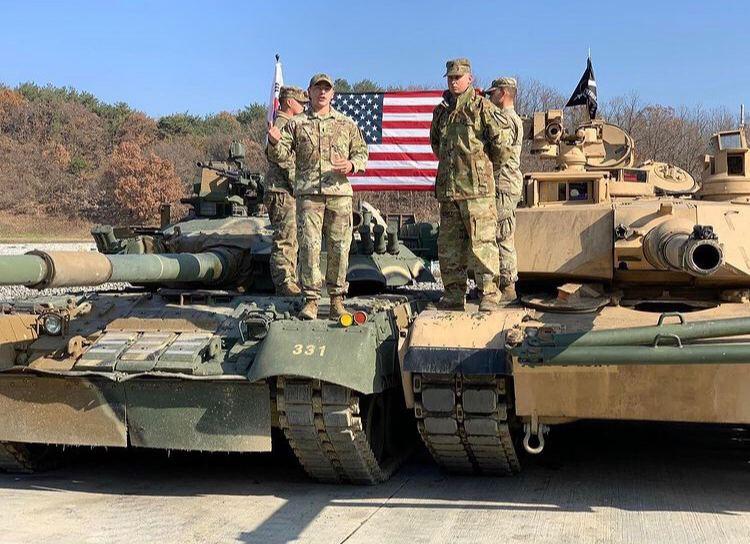 Сравнение лобовых проекций танков Т-80У и М1А2 Abrams