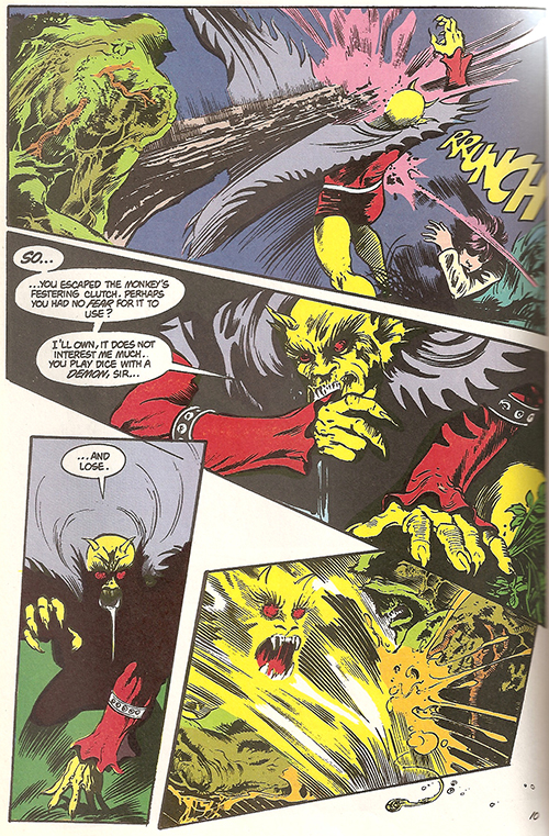 Swamp Thing lays smackdown