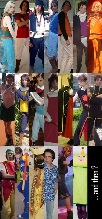 Liste des... euh... on peut vraiment appeler ça des cosplays?