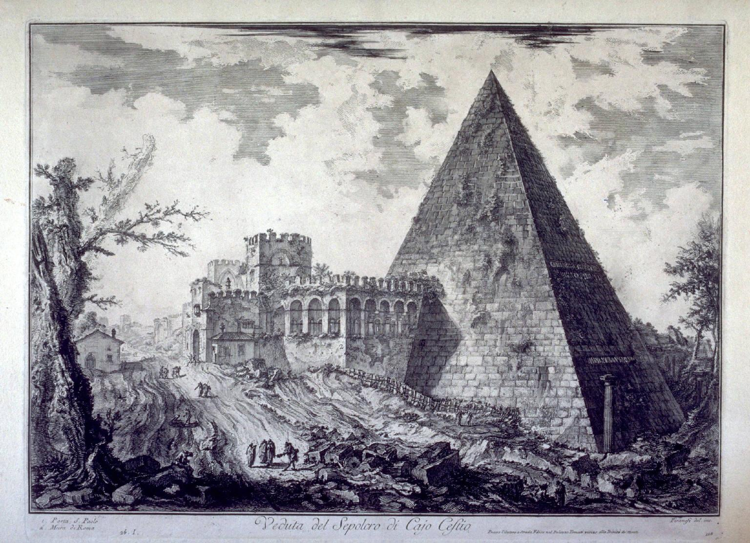 Giovanni-Battista-Piranesi-Views-of-Rome-Pyramid-of-Caius-Cestius-1755-painting-artwork-print