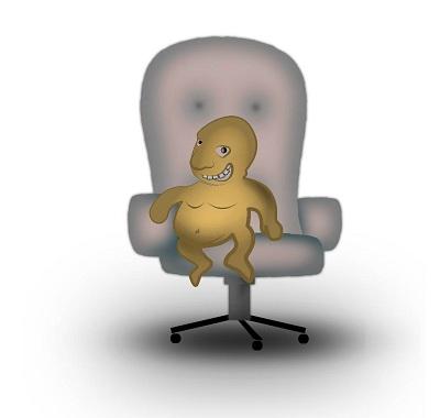 Лень на кресле
