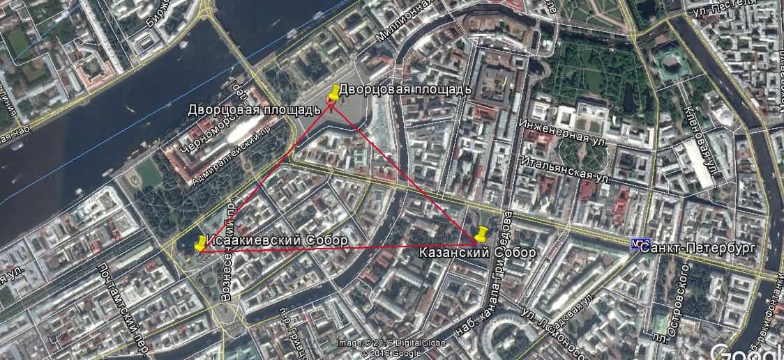 Занесенные здания. Дворцовая площадь
