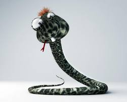 смешная змея
