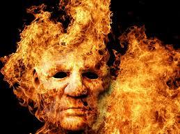 лицо из огня