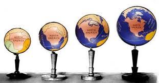 Процесс изменения земного шара в картинках