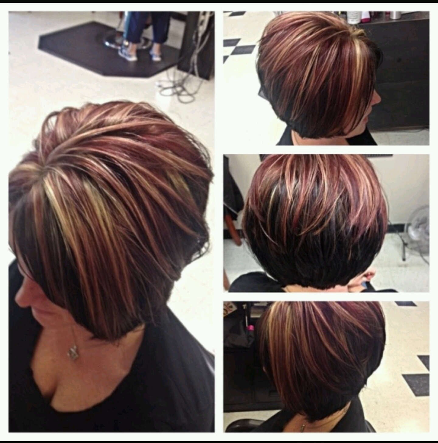 Blonde to Red transition: Bob cut Style: digzmania