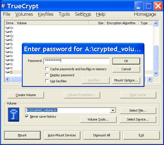 TrueCrypt - зашифрованные диски