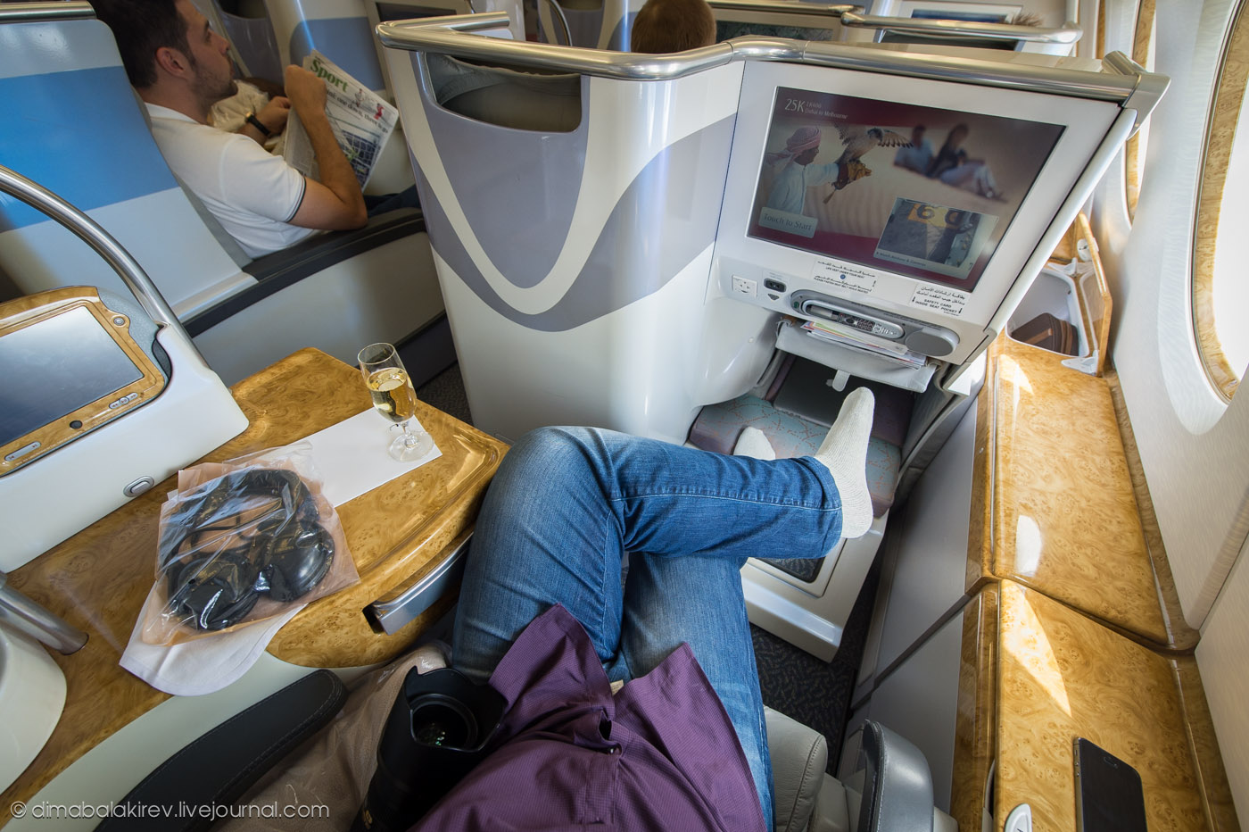 Бизнес-класс A380 комании Emirates