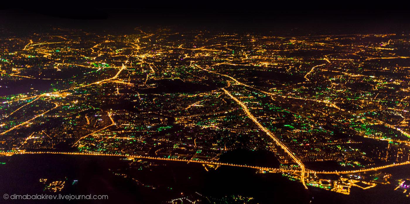 Ночная Москва с высоты