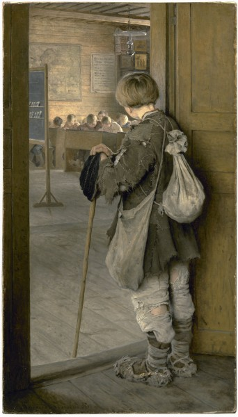 1897_Bogdanov-Belsky_At_School_Doors