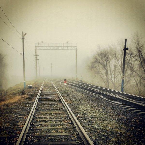 Ульяновск в тумане