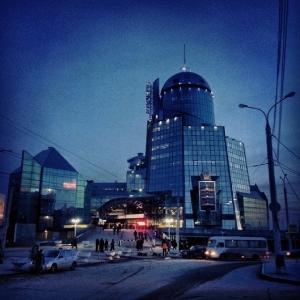 Самара. Вечерний вокзал