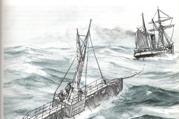 Рисунок из книги Я.Пивовонски Необычные лодки