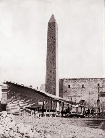 Нью-Йоркская игла Клеопатры в Александрии 1861 год