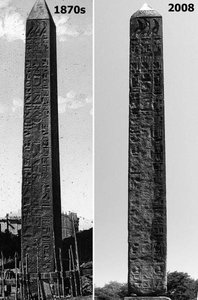 Степень сохранности Нью-Йоркской Иглы Клеопатры.