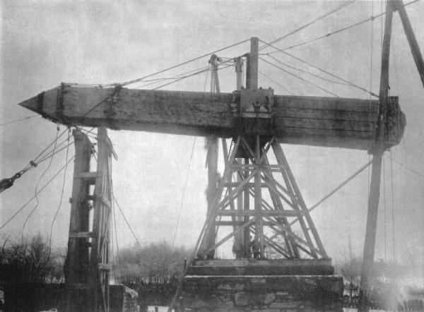 Конструкция эстакады для установки обелиска
