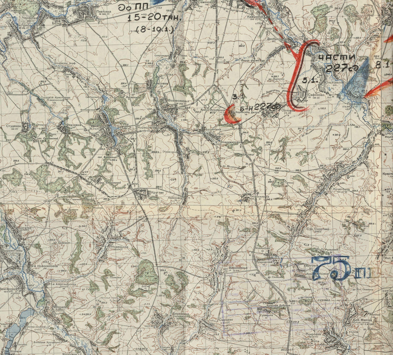 Карта Ивнянского района 1941 г.