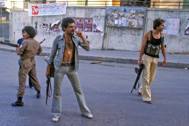 Христианская милиция на улицах Бейрута, 1978 год