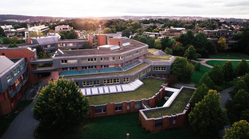 Байройтский университет (съемка с квадрокоптера)