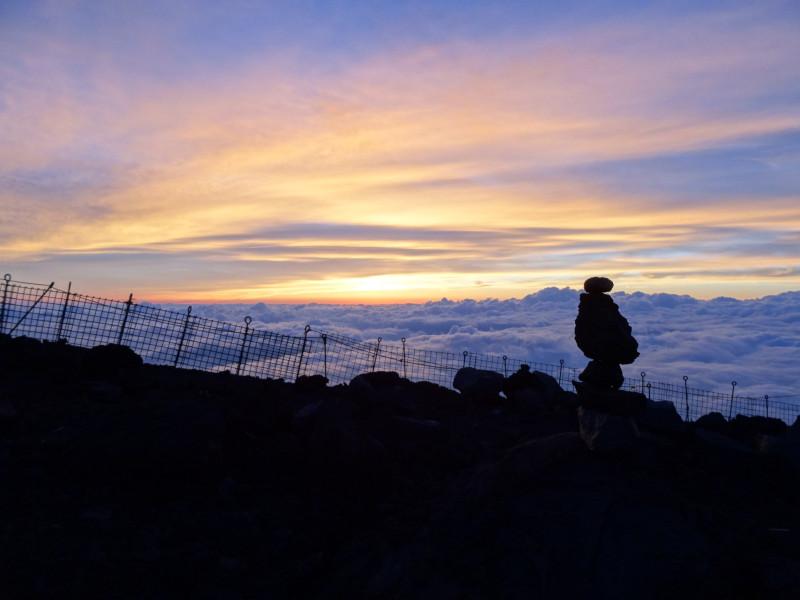 Вершина горы Фудзи