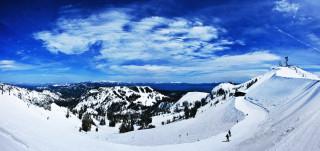 Alpine Meadows Панорама с видом на озеро Тахо