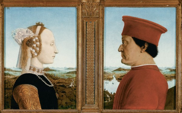 пьетро дела франческа Федериго да Монтефельтро и его жены Баттисты Сфорца 1465