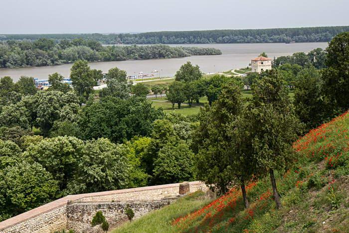 Белград. Калемегдан. Вид на башню Небойша