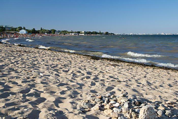Заозерное. Пляж