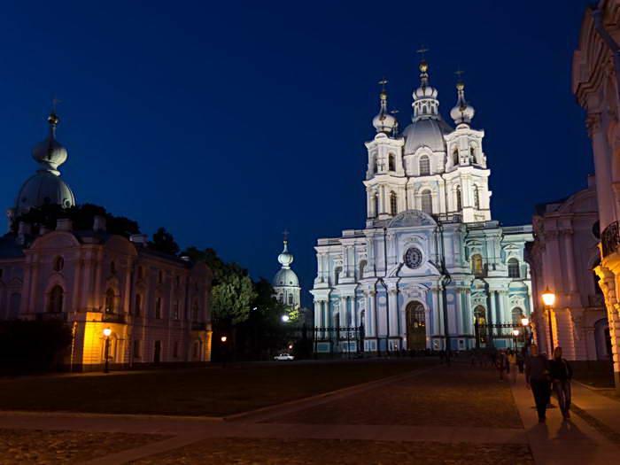 Ночной Санкт-Петербург. Смольный монастырь