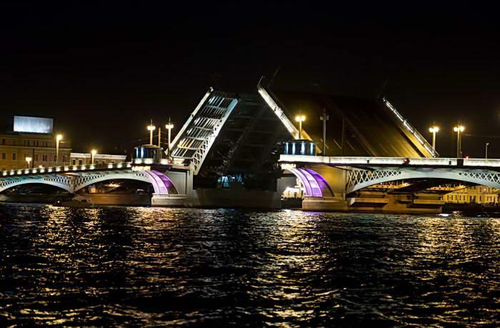 Разведение Троицкого моста
