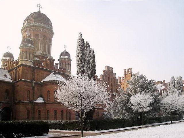 Университет зимой