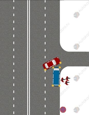 остановка на аварийке под знаком