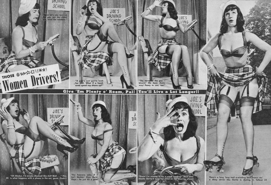Bettie_Page_driving