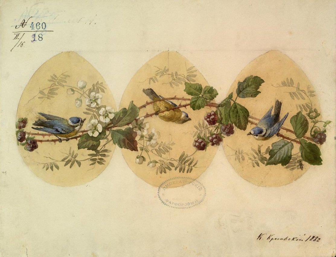 Автор: Красовский К.Н., 1882 (из коллекции Музея Императорского фарфорового завода)