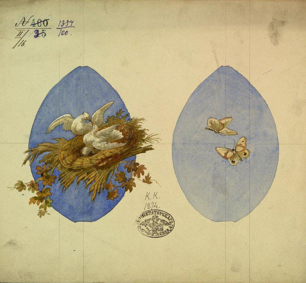 Автор: Красовский К.Н., 1874 (из коллекции Музея Императорского фарфорового завода)
