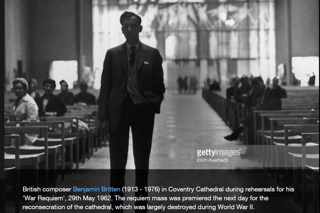 Бенджамин Бриттен на репетиции Военного реквиема. 1962 год. © Photo by Erich Auerbach/Hulton Archive/Getty Images