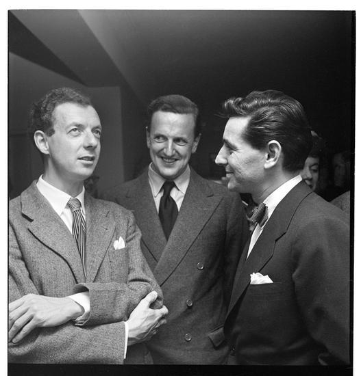 Бенджамин Бриттен, Питер Пирс, Леонард Бернстайн, сфотографированные Стэнли Кубриком в 1949 году © Museum of the City of New York (collections.mcny.org)