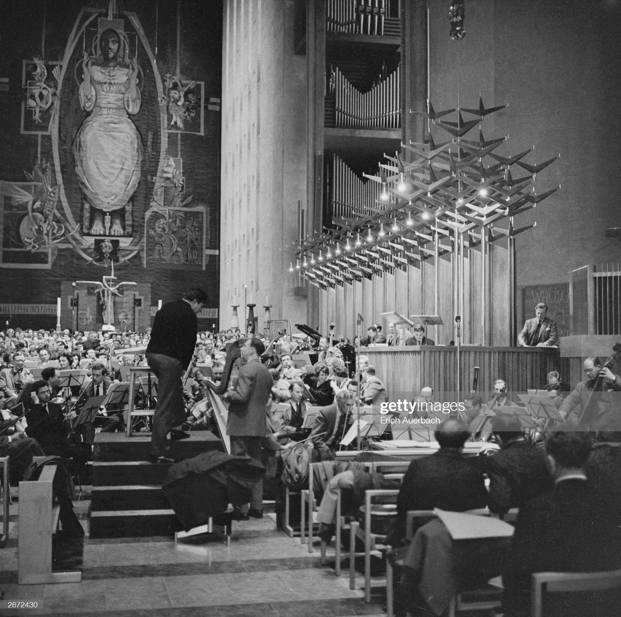 Репетиция Военного реквиема. 1962 год  © Photo by Erich Auerbach/Getty Images