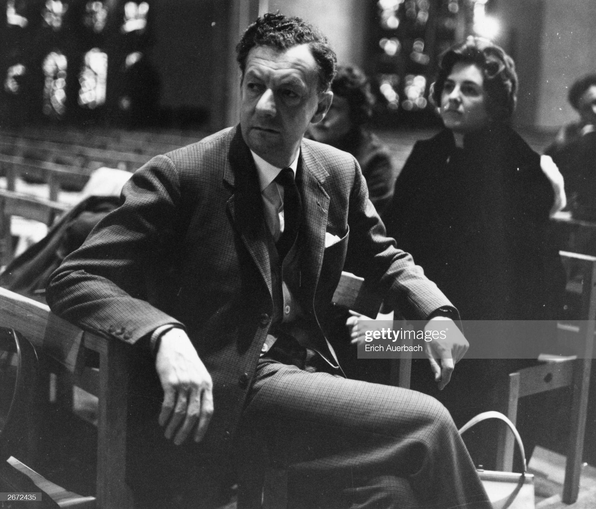 Бенджамин Бриттен и Хизер Хампер на репетиции Военного реквиема. 1962 год © © Photo by Erich Auerbach/Hulton Archive/Getty Images