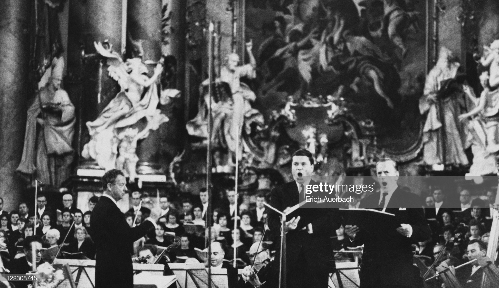 Военный реквием в Баварии. Бенджамин Бриттен, Дитрих Фишер-Дискау и Питер Пирс. 1964 год © Photo by Erich Auerbach/Hulton Archive/Getty Images