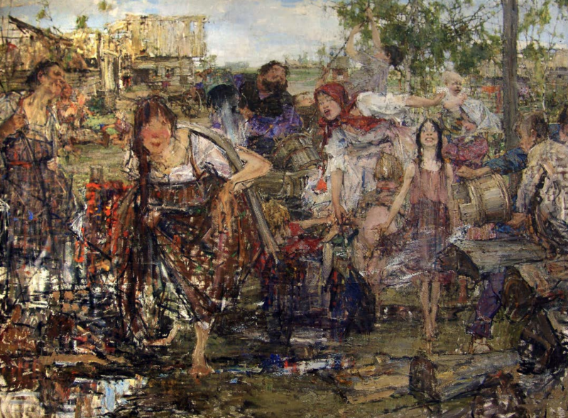 Н. Фешин. Обливание. 1911–1916. ©️ ГМИИ РТ