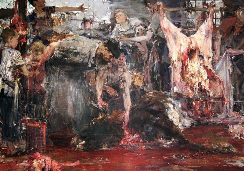 Н. Фешин. Бойня. 1911–1916. ©️ ГМИИ РТ