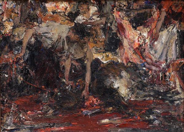 Н. Фешин. Бойня. Эскиз. 1910-е. ©️ Козьмодемьянский музейный комплекс