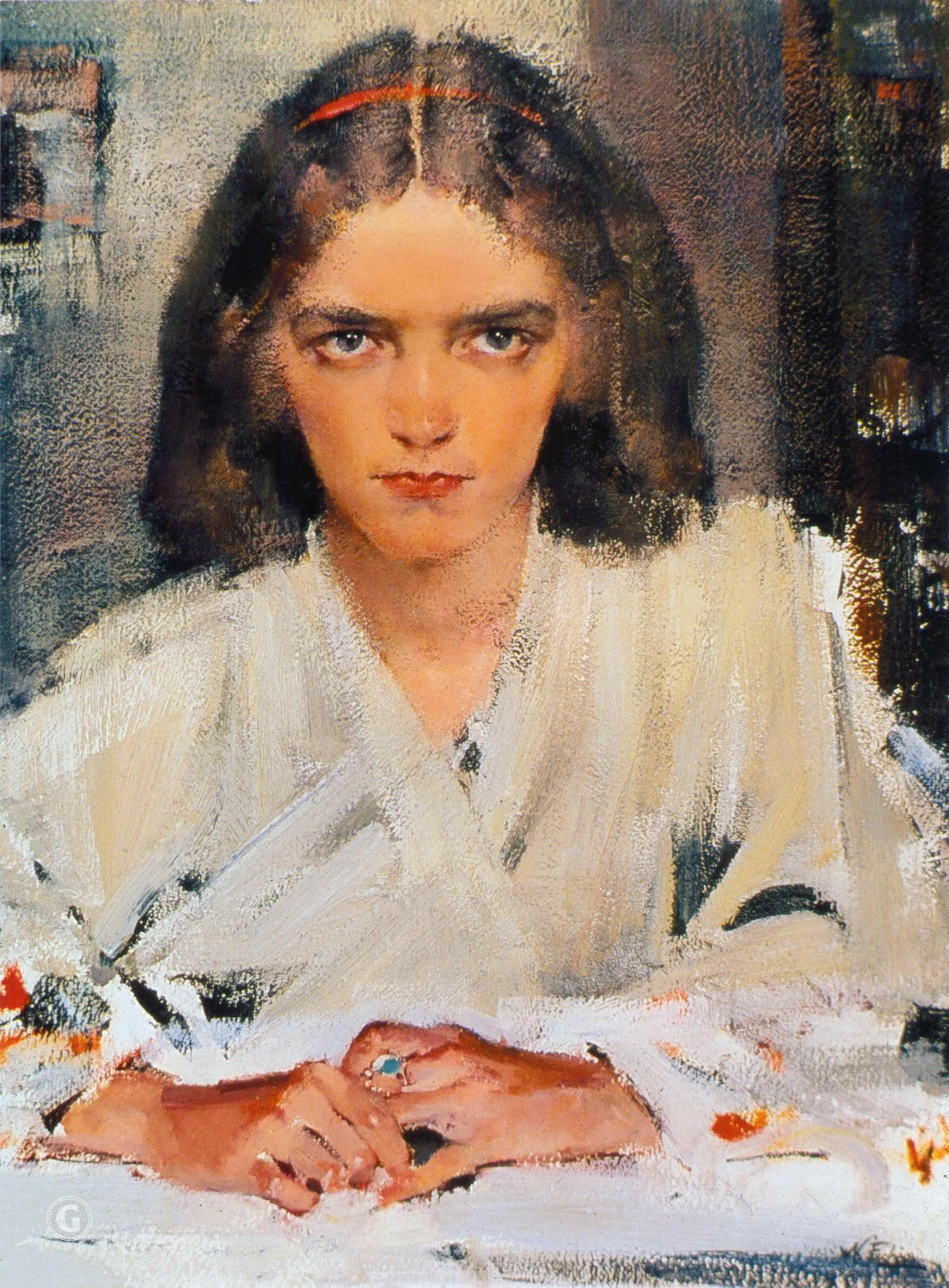 Николай Фешин. Ия в кимоно. Конец 1930-х.