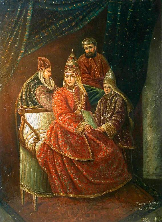 Александр Карнаухов «Царица Сююмбике и её семейство», 1913, Национальный музей РТ
