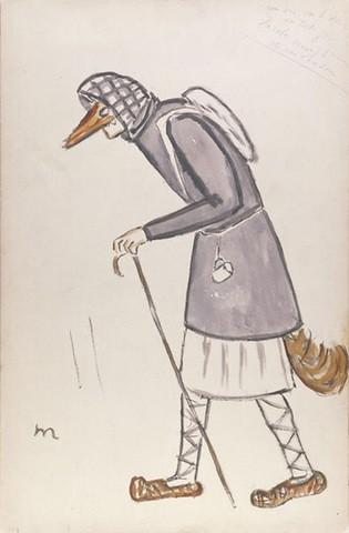 Эскиз Михаила Ларионова. 1922 год © Victoria and Albert Museum